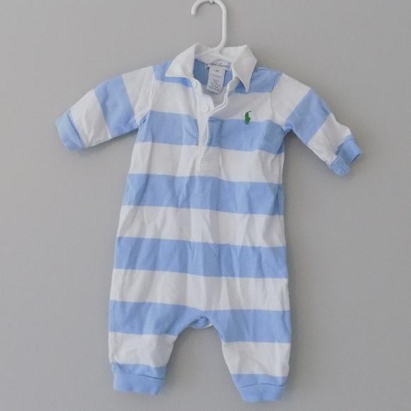 New Baby Boys Ralph Lauren Body Suit//Romper  3 Months